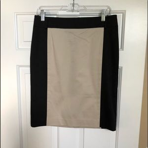 NWOT Ann Taylor Colorblock Pencil Skirt